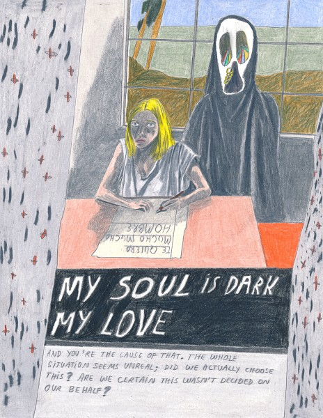 Marie Jacotey, My soul is dark, 2015
