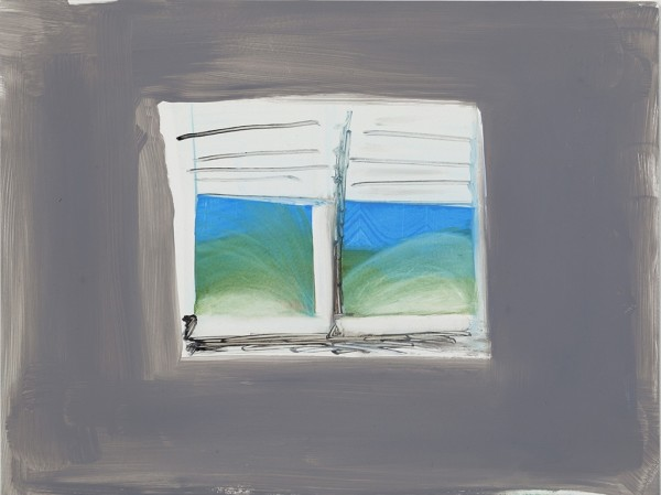 Katie Darby Slater, Grey Window, 2015  Oil on panel, 9 x 12 in.  dar002