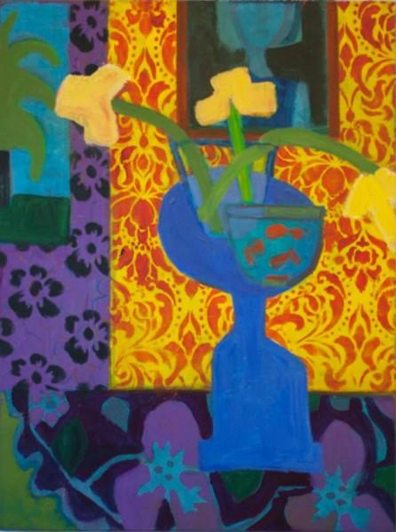 Denise Regan  3 Daffodils, 2014  Oil on linen  40 x 30 in.