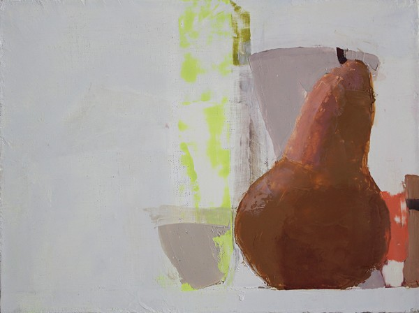 Sydney Licht  Still Life with Pear, 2014  Oil on linen  9 x 12 in.