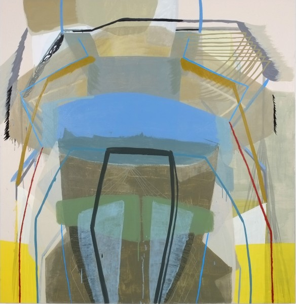Ky Anderson Standing In Front, 2015  oil on canvas 60 x 58 in. (152.4 x 147.3 cm)