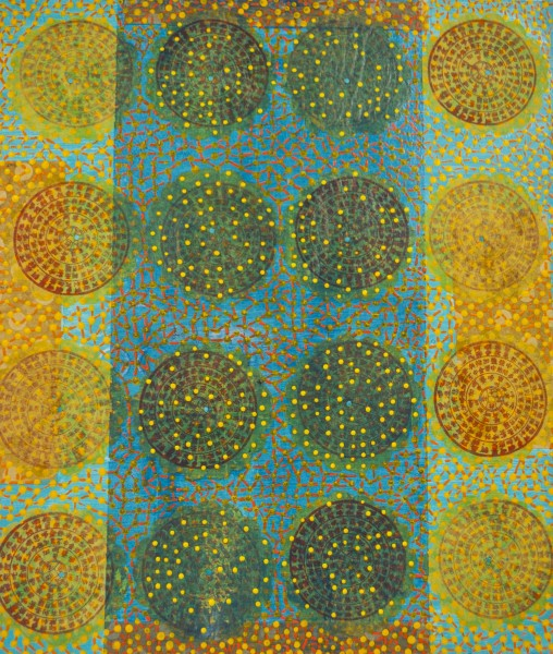 Diane Ayott  Mermaid Calls, 2015  Mixed Media on paper  24 x 20 in.  Framed, 27 ½ x 24 in.