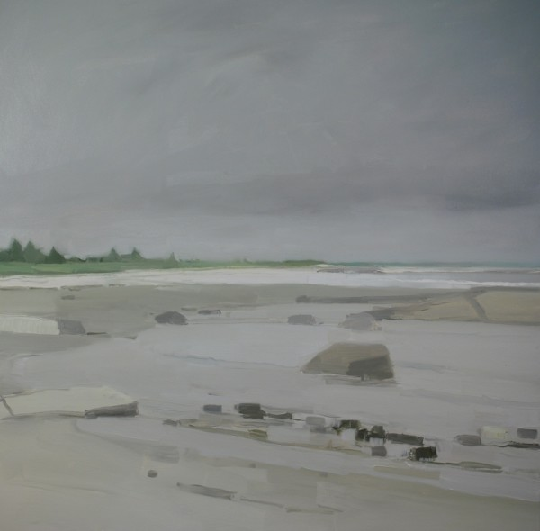 Sara MacCulloch  Beach and Clouds, 2014  Oil on canvas  48 x 48 in.