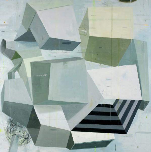 Deborah Zlotsky  A tricky subject, 2014  Oil on canvas  48 x 48 in.