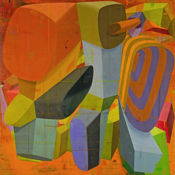 Deborah Zlotsky  Sonetto, 2014  oil on canvas  48 x 48 in.