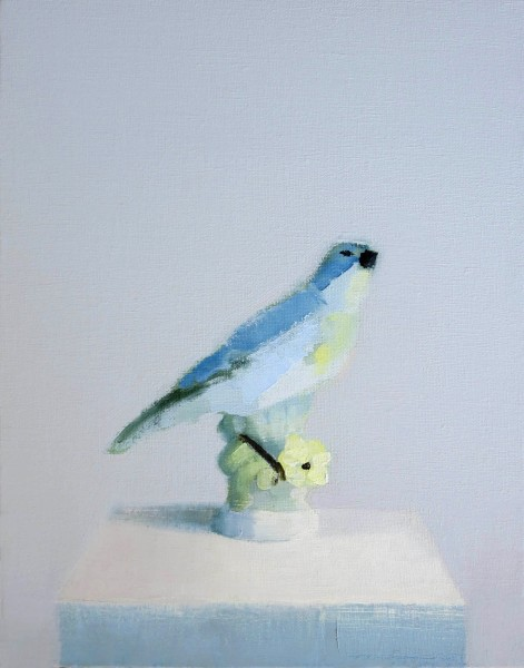 Stephanie London  Bird Song, 2014  Oil and wax on linen  14 x 11 inches