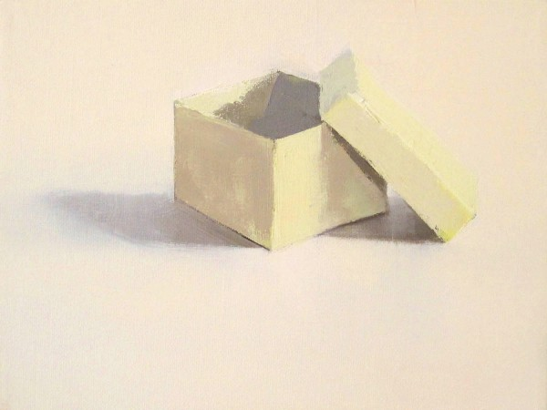 Stephanie London  The Box, 2013  Oil on canvas  9 x 12 inches