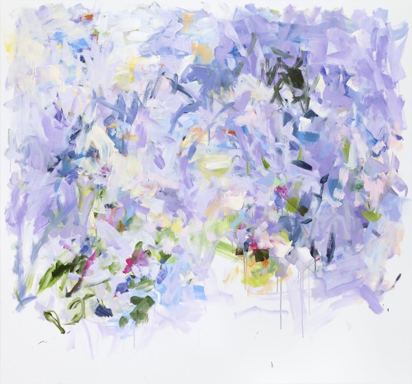 Yolanda Sánchez  A Flower Moon, 2013  Oil on canvas  55 x 59 inches