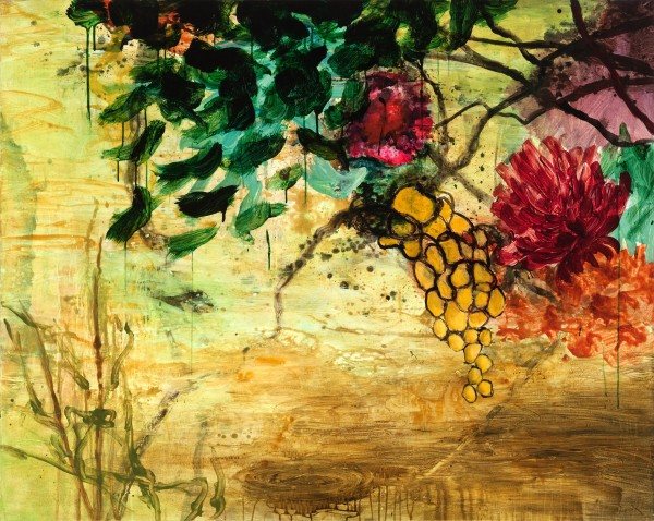 Allison Stewart  Natural Wonders #1 Mixed Media on Canvas 48 x 60 in.