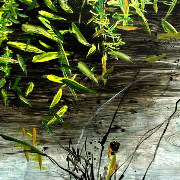 Allison Stewart  Haiku Bayou #10  mixed media on panel  20 x 20 in.