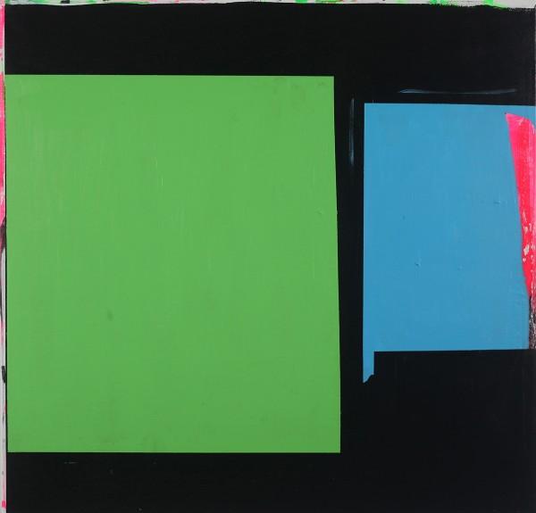 Paul Behnke  Blue-Green Bow Street, 2013  acrylic on canvas  48 x 50 in