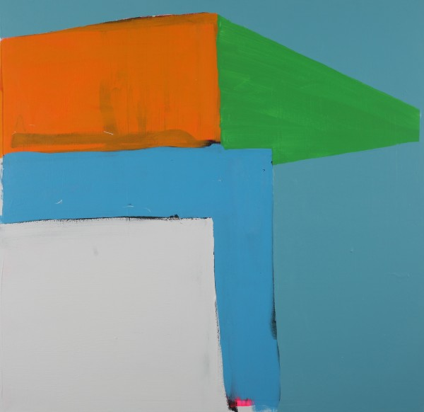 Paul Behnke  Fleet and Green, 2013  acrylic on canvas  48 x 50 in