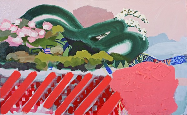 Susanna Bluhm  He pastures his flock among the lilies, 2012  Oil and acrylic on canvas  24 x 48 inches