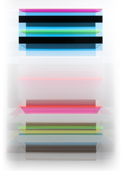 Christian Haub  A Float for Isaac Guillory, 2013  Cast acrylic sheet  80 x 48 x 4.5 inches