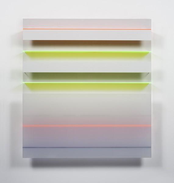 Christian Haub  A Float for Ian Curtis, 2013  Cast acrylic sheet  52 x 48 x 4.5 inches