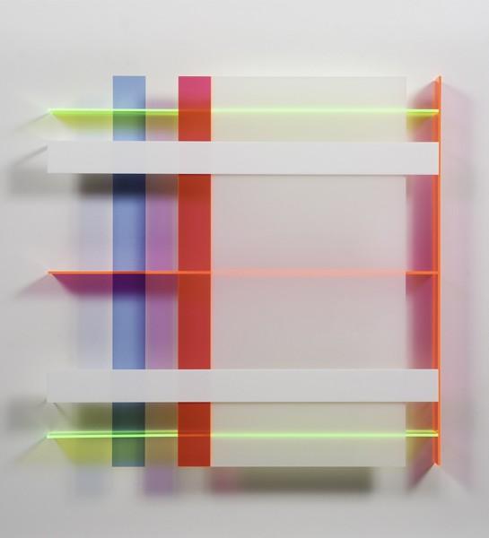 Christian Haub  A Float for Linda Salerno, 2013  Cast acrylic sheet  36 x 36 x 3.5 inches
