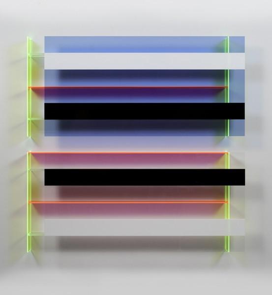 Christian Haub  Joe Strummer Float, 2013  Cast acrylic sheet  52 x 48 x 4.5 inches