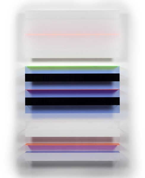 Christian Haub  Roy Orbison Float, 2013  Cast acrylic sheet  80 x 48 x 4.5 inches