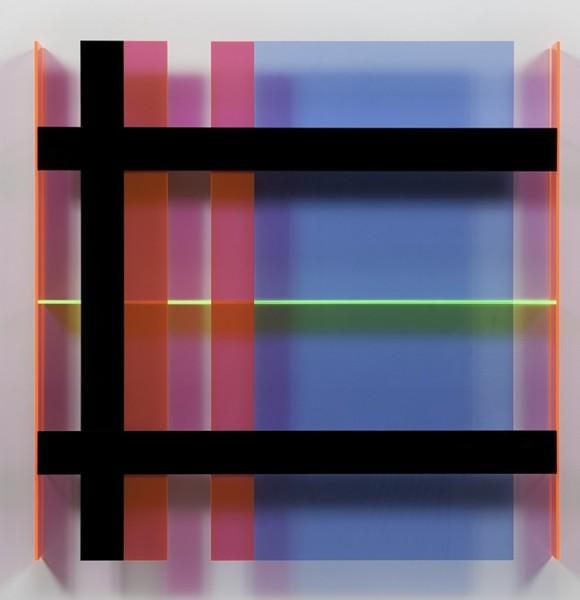Christian Haub  A Float for Doug Ohlson, 2013  Cast acrylic sheet  36 x 36 x3.5 inches