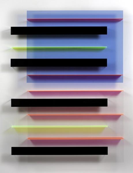 Christian Haub  A Phantom Float for Christopher Hitchens, 2013  Cast acrylic sheet  76 x 56 x 4.5 inches