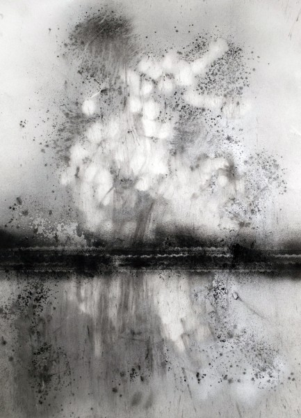 Bradley LaMere  Untitled #6- Swing Low Series, 2013  Powdered Charcoal and graphite on paper  22 x 30