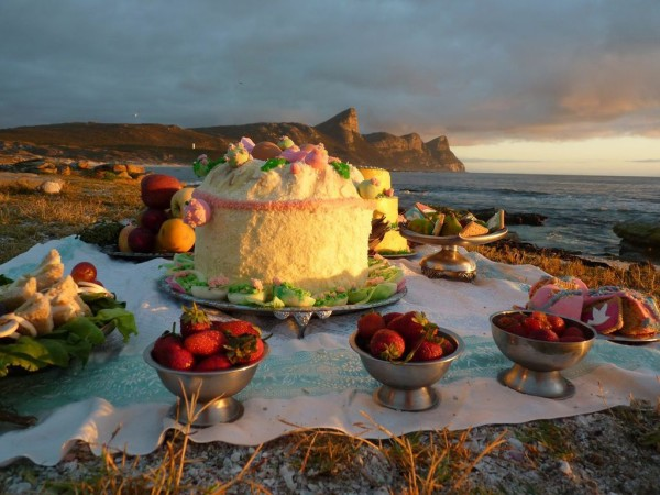 Dana Sherwood  Picnic at Cape Point (Invitation), 2011  Digital C-Print  16 x 20 in.