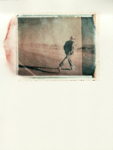 Bryan McGovern Wilson  Trinity Pilgrimage (Crossing Over) 2011  polaroid transfer on watercolor paper  7 x 9 in.