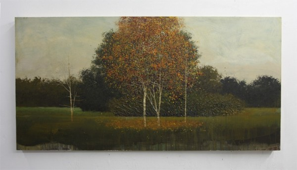 Peter Hoffer  Revival, 2012  Oil, acrylic, and resin on panel  36 x 72 inches