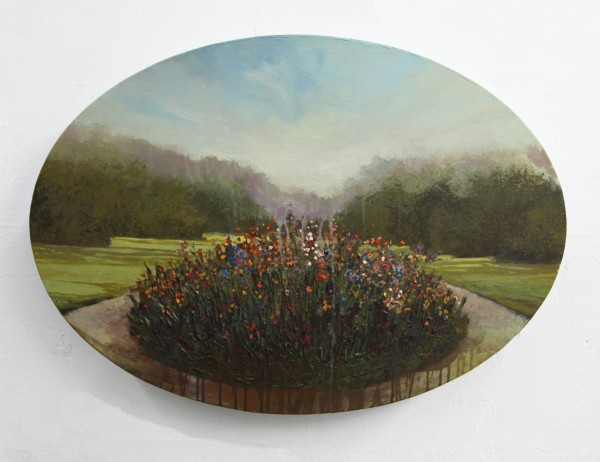 Peter Hoffer  Pavilion, 2012  Oil, acrylic, and resin on canvas  24 x 35 inches