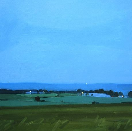 Sara MacCulloch  Kingsport Evening 2012  Oil on canvas  30 x 30 inches