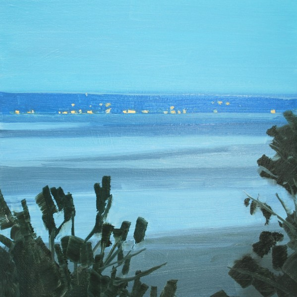 Sara MacCulloch  Low Tide Evening 2012  Oil on canvas  16 x 16 inches