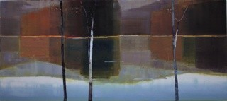 Stephen Pentak  X.II, 2011  Oil on panel  42 1/2 x 96 inches