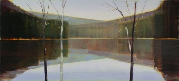 Stephen Pentak  X.III, 2011  Oil on panel  34 x 76 inches