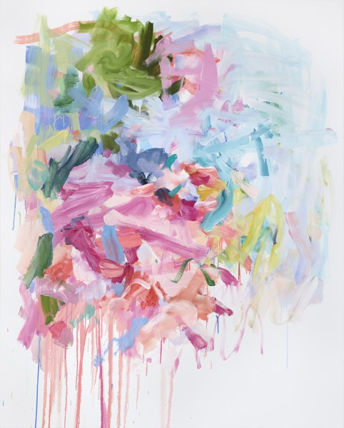 Yolanda Sánchez  What was said to the Rose (That made it Open), 2012  Oil on canvas  60 x 48 inches