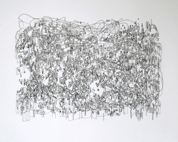 Felice Grodin  Surface 1A, 2005  ink on mylar  24 x 36 in