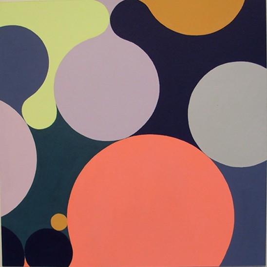 Julie Gross  #144  gouache on paper  12 x 12 in