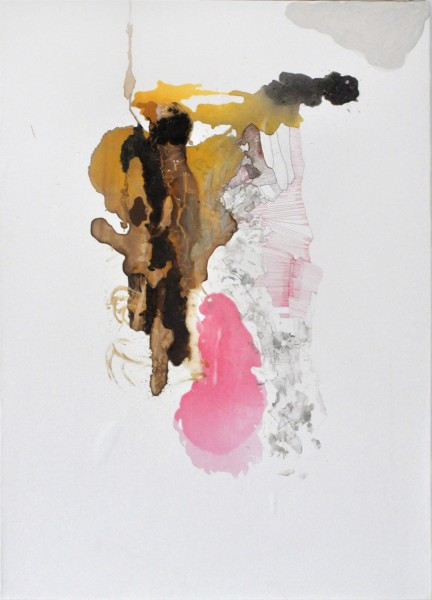 Theresa Hackett  Untitled, 2012  collage on paper  26 x 20 in.
