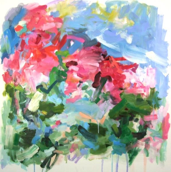 Yolanda Sanchez  A Modern Fairy Tale, 2012  oil on canvas  36 x 36 in