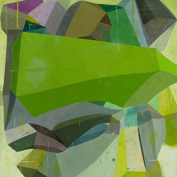 Deborah Zlotsky  Catch 22, 2011  Oil on canvas  36 x 36 inches