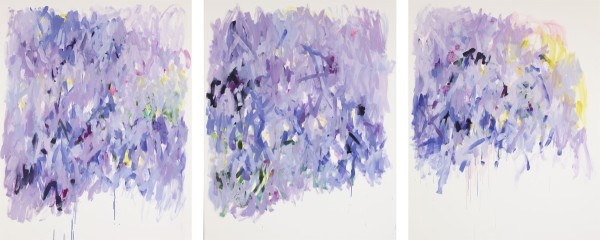Yolanda Sanchez  Moon-Mind, 2010  Oil on canvas  60 x 144 inches