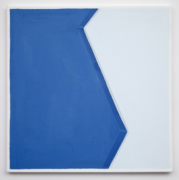 """Holly Miller, """"Bend #8""""  2014  Acrylic and thread on canvas  20 x 20 in."""