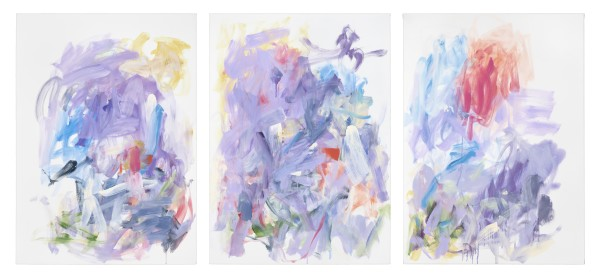 Yolanda Sánchez  Unspoken Thoughts, 2016  oil on canvas (triptych)  41 X 81 in.