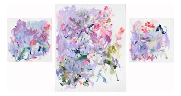Yolanda Sánchez  The Paradox of Love, 2016  oil on canvas (triptych)  60 x 108 in.