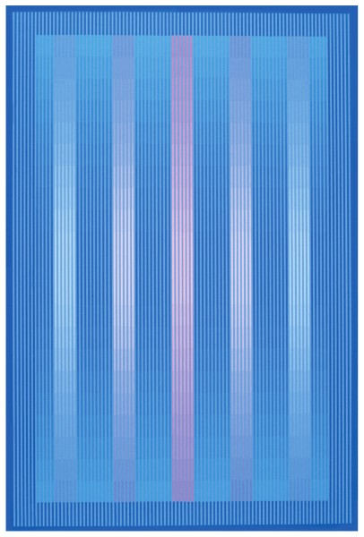 JULIAN STAŃCZAK, Blue Crystal, 1985 Acrylic on canvas 91 x 61 cm 35 ¾ x 24 inches
