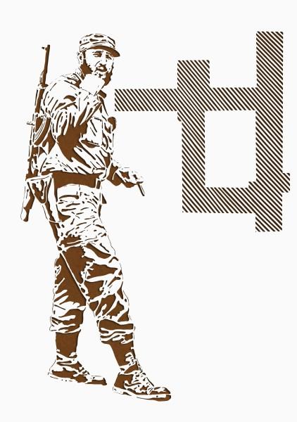 HAMLET LAVASTIDA, Vida Profilactica #09, 2014 X-Acto knife paper cut-out drawing, ed. 1/2 100 x 70 cm 39 3/8 x 27 1/2 inches £2,500.00