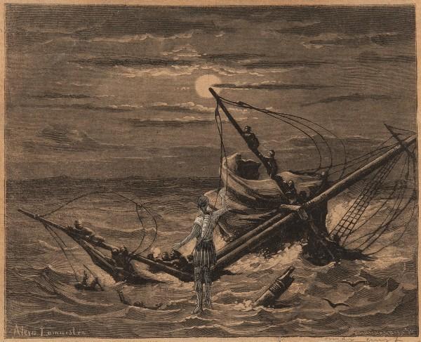MAX ERNST, Les naufragés barbares: Du haut du mat venez admirer le panorama, 1929-30 Collage of printed paper 14.6 x 17 cm 5 ¾ x 6 ⅝ inches