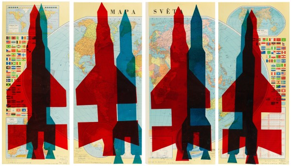 STANO FILKO, Map of the World (Rockets), 1967