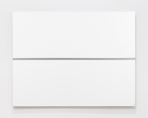 JOSIP VANIŠTA, Silver line on a white surface, 1964‒1997