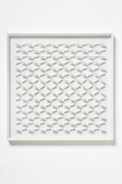KLAUS STAUDT, Tango, 2019 Wood, acrylic paint and Plexiglas 70 x 70 x 6.6 cm 27 ½ x 27 ½ x 2 ⅝ inches