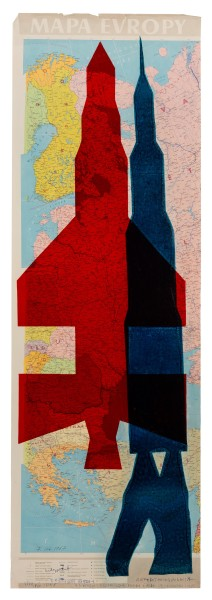 STANO FILKO, Map of Europe (Rockets), 1967